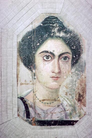 Roman period Egyptian portrait of a woman. Artist: Unknown-Unknown-Giclee Print