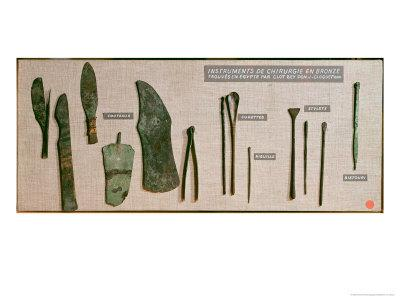 Surgical Instruments, Found in Egypt by Antoine Barthelemy Clot Bey