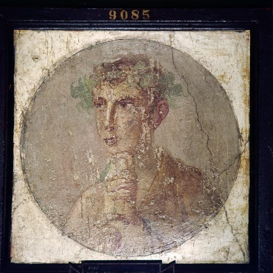 Roman Portait of a Young Man from Pompeii, c1st century-Unknown-Giclee Print