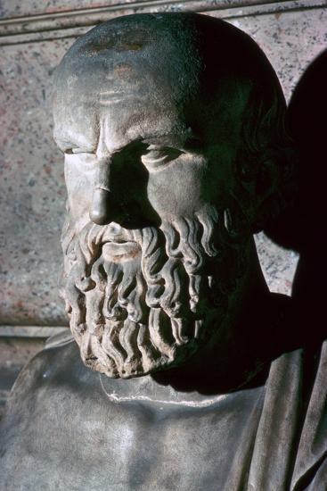 Roman portrait bust of the Greek dramatist Aeschylus, 6th century BC. Artist: Unknown-Unknown-Giclee Print