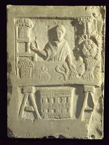 Relief Depicting a Flower and Vegetable Seller by Roman