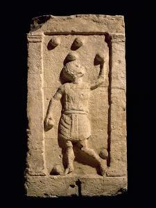 Relief Depicting a Juggler from the Stela of Settimia Spica (Stone) by Roman