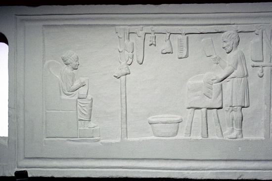 Roman relief of a butcher's shop. Artist: Unknown-Unknown-Giclee Print