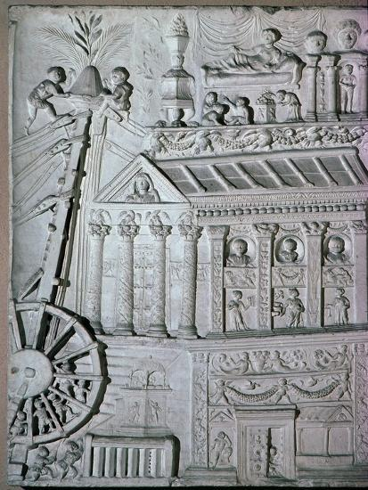 Roman relief of a crane being used. Artist: Unknown-Unknown-Giclee Print