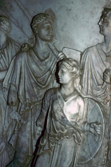 Roman relief of a Lictor carrying the Fasces in a procession-Unknown-Giclee Print