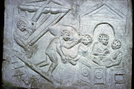 Roman relief of a ship-Unknown-Giclee Print