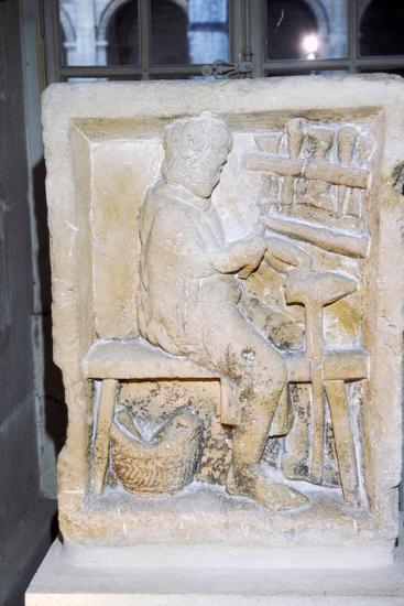 Roman relief of a shoe-maker or repairer from Rheims, France, c1st-2nd century-Unknown-Giclee Print
