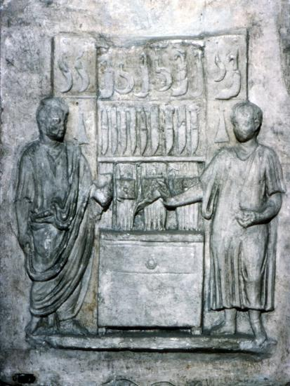 Roman relief of a Shop Selling Knives, c2nd century-Unknown-Giclee Print