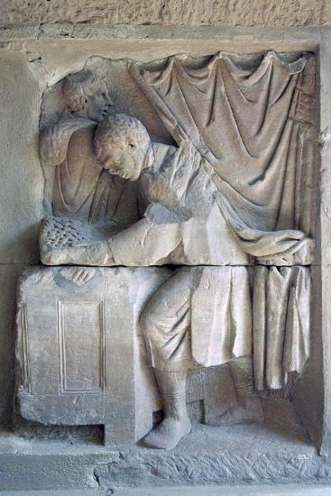 Roman relief of a tax-collector. Artist: Unknown-Unknown-Giclee Print