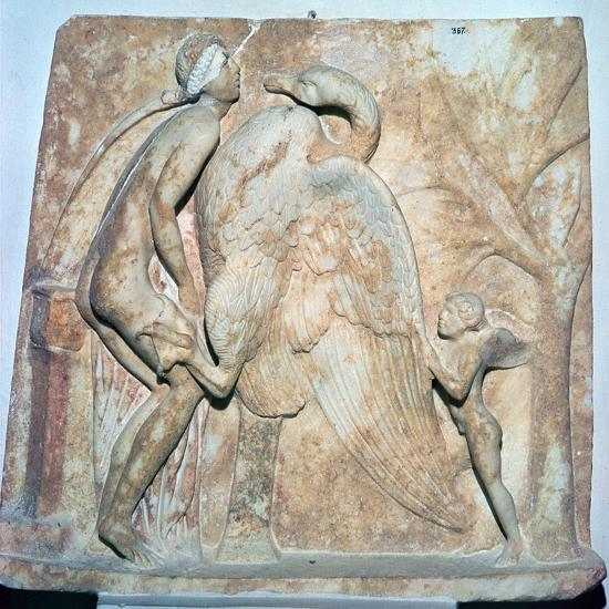 Roman relief of Leda and the Swan, 1st century. Artist: Unknown-Unknown-Giclee Print