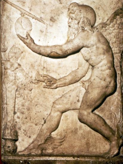 Roman Relief of Saturn-Unknown-Giclee Print