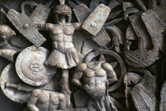 Roman relief of the trophies of war, 2nd century. Artist: Unknown-Unknown-Giclee Print