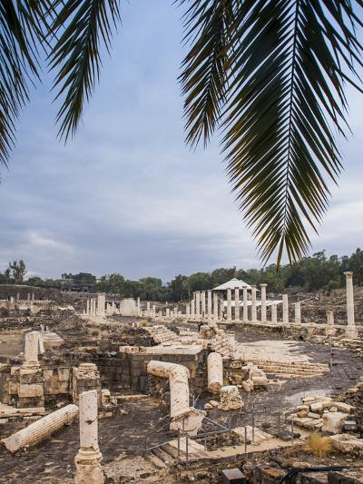 Roman Remains and Earthquake Damage in the Ancient City of Beit Shean-Richard Nowitz-Photographic Print