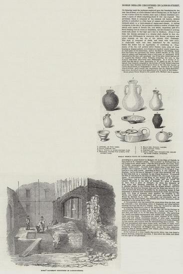 Roman Remains Discovered in Cannon Street--Giclee Print