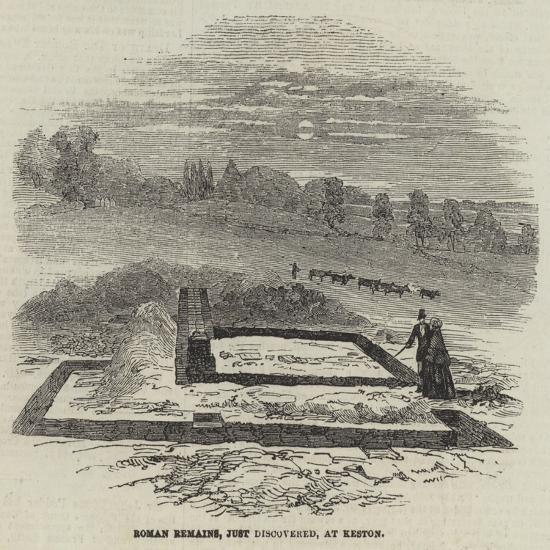 Roman Remains, Just Discovered, at Keston--Giclee Print