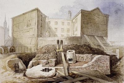 Roman Ruins at the Coal Exchange, London, 1848--Giclee Print