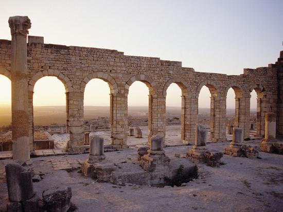 Roman Ruins in Volubilis-Floris Leeuwenberg-Photographic Print