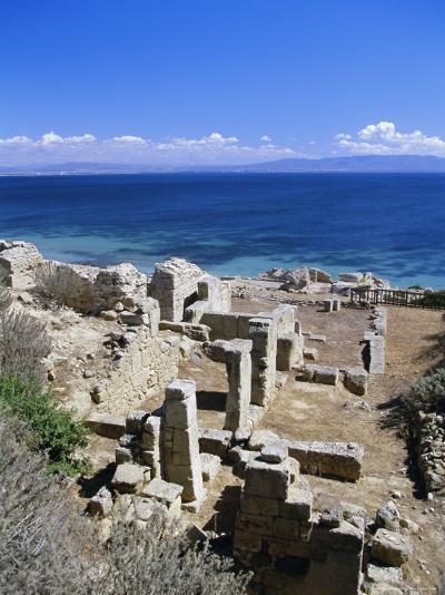 Roman Ruins, Tharros, Near Oristano, Sardinia, Italy, Europe-John Miller-Photographic Print