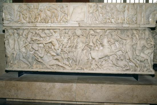 Roman sarcophagus with the legend of Selene and Endymion, 230-235 AD. Artist: Unknown-Unknown-Giclee Print