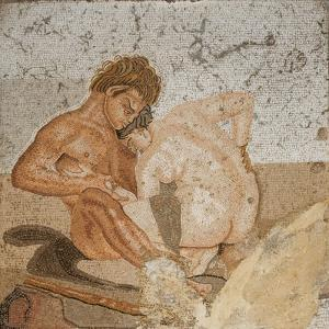 Satyr and Nymph, from the House of the Faun , Pompeii by Roman
