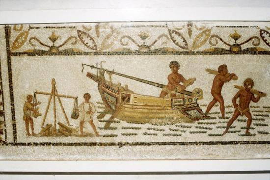 Roman Sea mosaic, 2nd-3rd century-Unknown-Giclee Print