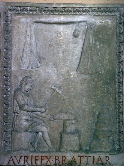 Roman smith at work, 2nd century. Artist: Unknown-Unknown-Giclee Print