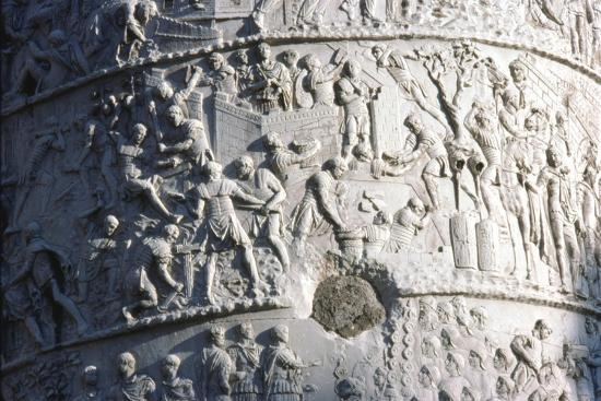 Roman soldiers building a fort in the Dacian campaign, Trajan's Column, Rome, c2nd century-Unknown-Giclee Print