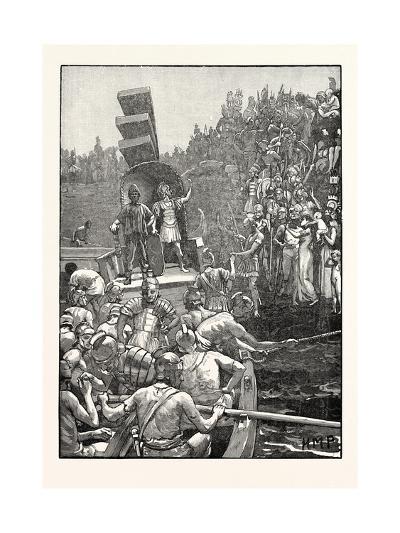 Roman Soldiers Leaving Britain--Giclee Print