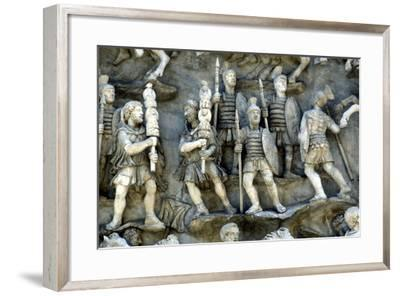 Roman Soldiers Taking Part in Decursio, the Ritual Circling of Funeral Pyre, C180-196--Framed Photographic Print