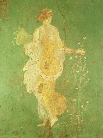 Spring, Maiden Gathering Flowers, from the Villa of Varano in Stabiae, c.15 BC-60 Ad