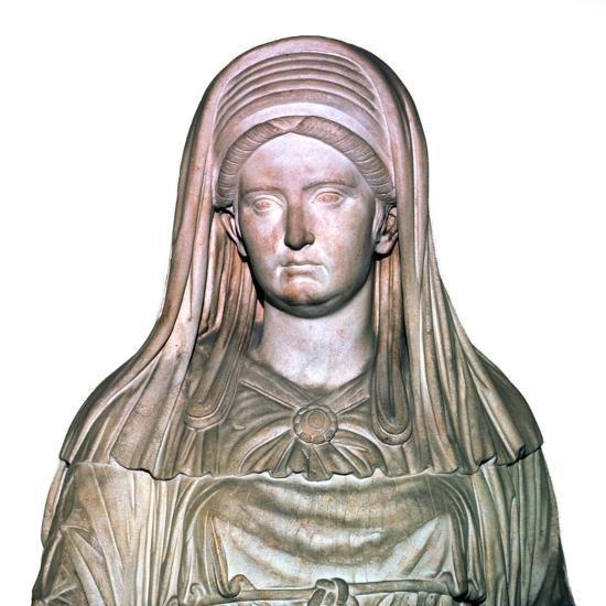 Roman statue of the High Priestess of Vesta-Unknown-Giclee Print