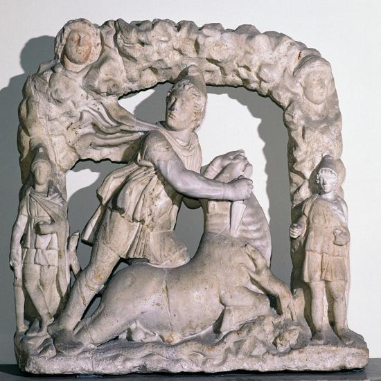 Roman statuette of Mithras slaying the bull, 3rd century. Artist: Unknown-Unknown-Giclee Print