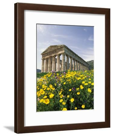 Roman-Style Ruins in Spanish Countryside with Wildflowers-Richard Nowitz-Framed Photographic Print