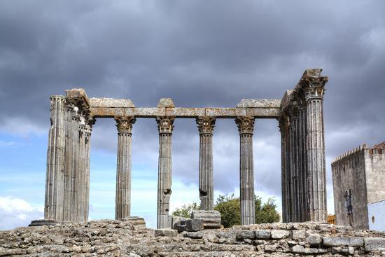 Roman Temple, Evora, UNESCO World Heritage Site, Portugal, Europe-Richard Maschmeyer-Photographic Print