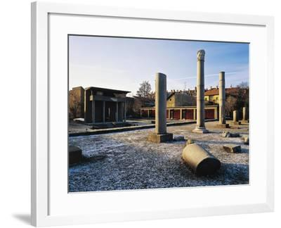 Roman Temple of Isis, Szombathely, Hungary. Roman Civilization--Framed Giclee Print