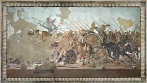 The Alexander Mosaic, Depicting the Battle of Issus Between Alexander the Great by Roman