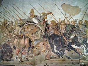 The Alexander Mosaic, Detail Depicting the Darius III by Roman