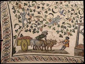 The Grape Harvest (Mosaic) by Roman