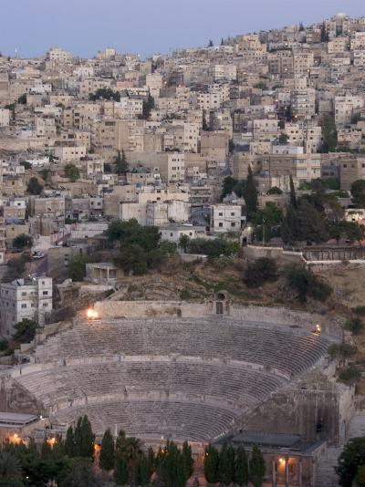 Roman Theatre in the Evening, Amman, Jordan, Middle East-Christian Kober-Photographic Print