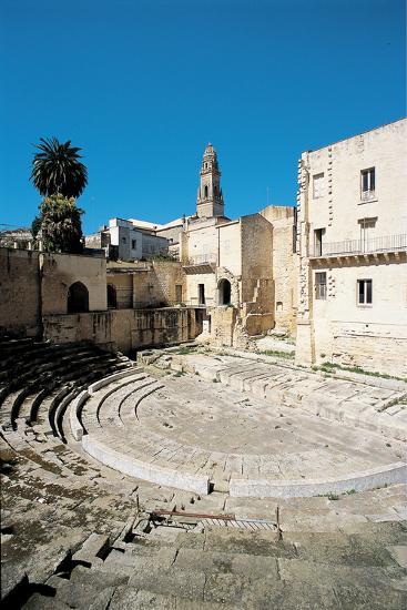 Roman Theatre - Lecce, 1st Century, Stone--Photographic Print