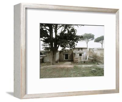 Roman tombs, Ostia, Italy-Werner Forman-Framed Photographic Print