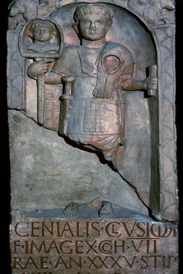 Roman tombstone of a standard bearer-Unknown-Giclee Print