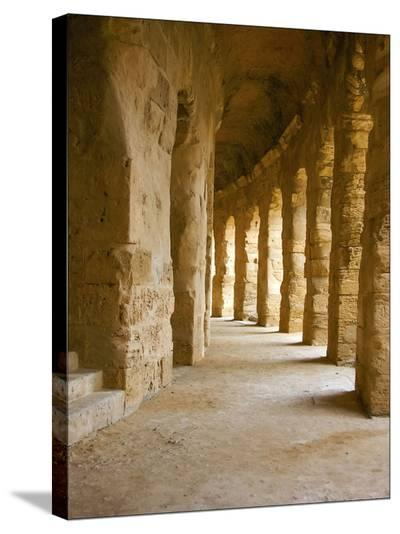Roman Walkway-Maggie Sale-Stretched Canvas Print