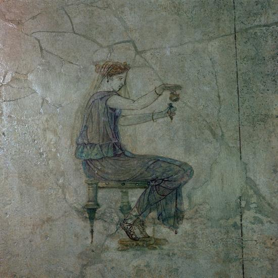 Roman wall-painting of a girl pouring perfume into a small vase, 1st century. Artist: Unknown-Unknown-Giclee Print