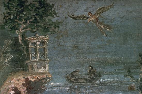 Roman wall-painting of Icarus. Artist: Unknown-Unknown-Giclee Print