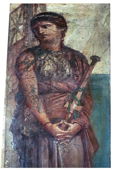 Roman wall-painting of Medea, 1st century BC. Artist: Unknown-Unknown-Giclee Print
