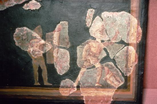 Roman wallpainting from a House at Colchester, England, c2nd-3rd century-Unknown-Giclee Print