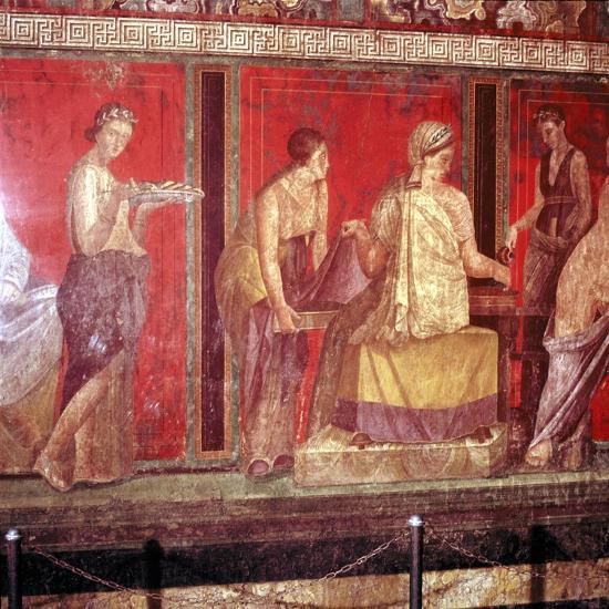 Roman wallpainting from Villa of the Mysteries, Pompeii, Italy, 1st century. Artist: Unknown-Unknown-Giclee Print