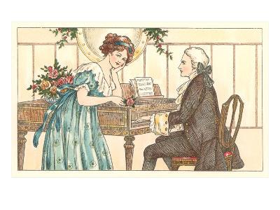 Romance at the Clavier--Art Print