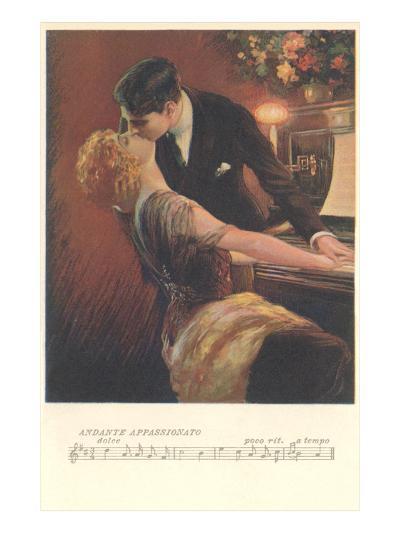 Romance at the Piano--Art Print
